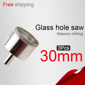 3pcs-30mm-1181in-Glass-hole-saw-Tile-hole-saw-Masonry-drilling-fontbPowerbfont-tools-Drill-bit-Direct-selling-Buy-2-lot-more-favorable-0