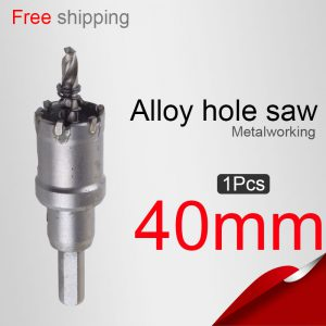 40mm-1575in-Stainless-steel-hole-saws-Lengthened-alloy-hole-saw-Metal-Drilling-fontbPowerbfont-tools-Drill-bit-0