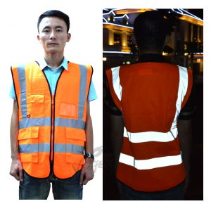 High-Vis-Reflective-Fluorescetn-Yellow-Fluorescent-Red-Vest-with-Multi-functional-Pocket-for-fontbConstructionbfont-Site-0