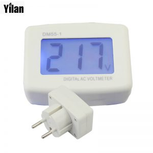 LCD-AC-Digital-Voltage-meter-panel-Voltmeter-80-300V-Switch-EURO-2-Round-Plug-Volt-fontbPowerbfont-Monitor-AC-Panle-Meter-blue-backlight-0