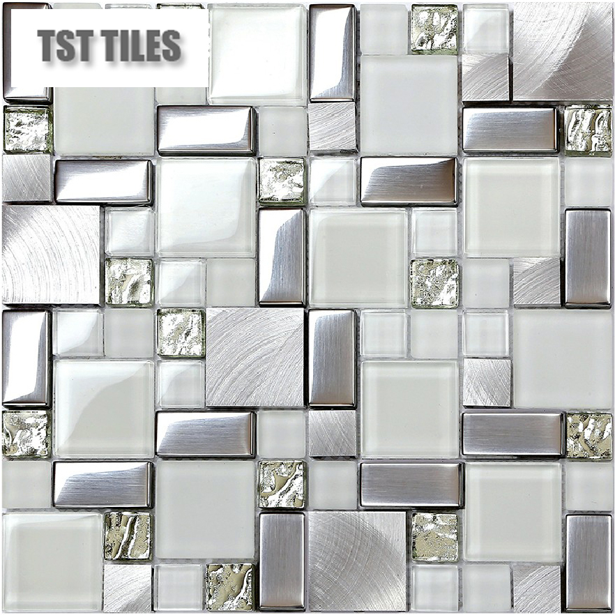Mosaics Silver Tile Kitchen Backsplash